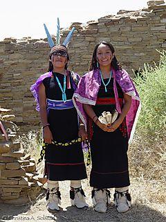 CSolstad_Hopi Girls, Chaco Canyon 2006