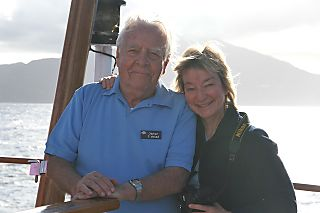 Dad and Christina - on the Sea Cloud II (Jan2007) (photo: Berit Solstad)