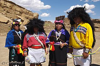 Acoma Buffalo Dance group, Pueblo Bonito (June2008)_DSC_6100