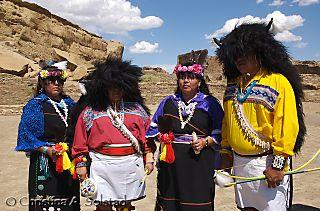 Acoma Buffalo Dance group, Pueblo Bonito (June2008)_DSC_6100