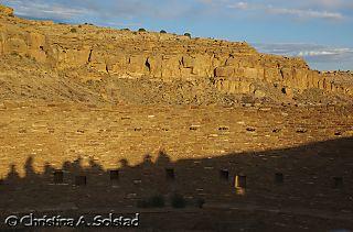 Casa Rinconada solstice sunrise marker (Chaco 2008)_DSC_6175